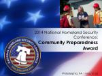 2014 national homeland security conference community preparedness award6