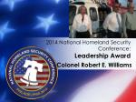 2014 national homeland security conference leadership award2