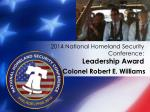 2014 national homeland security conference leadership award3