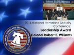 2014 national homeland security conference leadership award5
