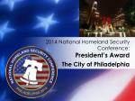 2014 national homeland security conference president s award1