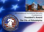 2014 national homeland security conference president s award2