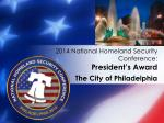 2014 national homeland security conference president s award3