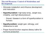 thyroid hormone control of metabolism and development