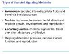 types of secreted signaling molecules1