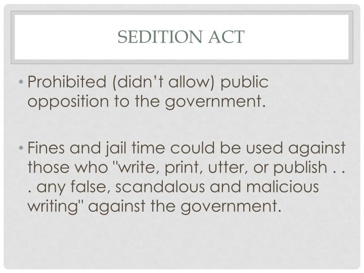 Sedition Act