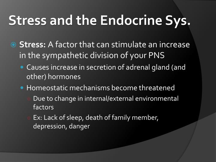 Stress and the Endocrine Sys.