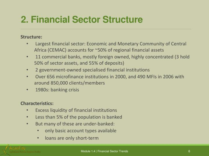 2. Financial Sector Structure