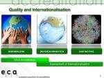 quality and internationalisation