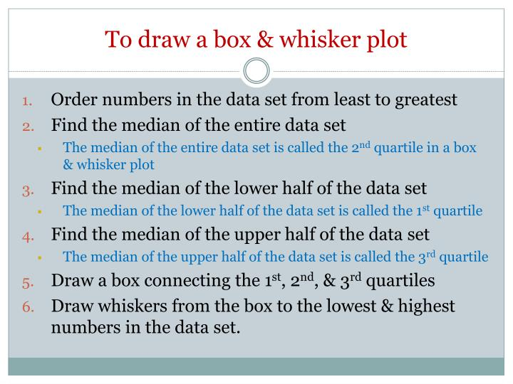 To draw a box & whisker plot