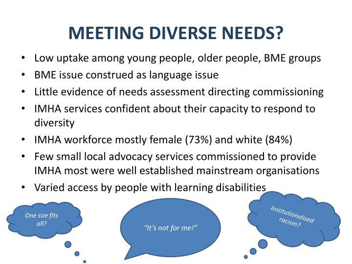 Meeting Diverse Needs?
