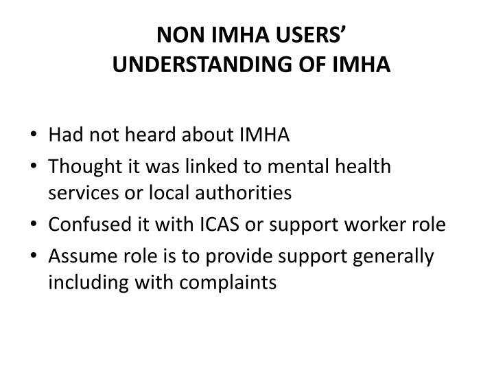 Non IMHA Users'