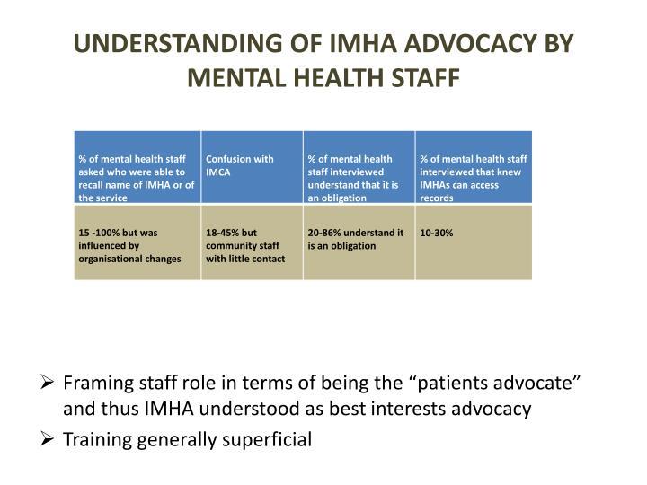 Understanding of IMHA