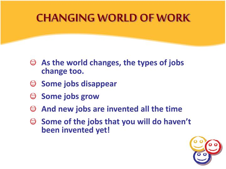 CHANGING WORLD OF WORK