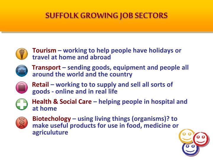 SUFFOLK GROWING JOB SECTORS