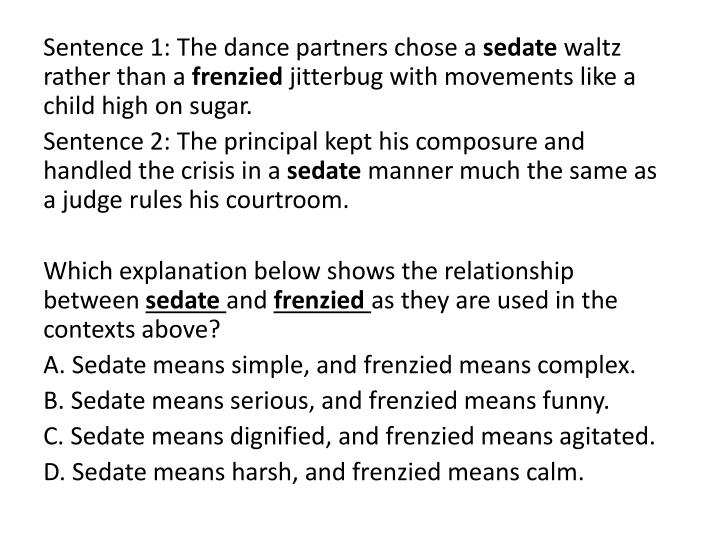 Sentence 1: The dance partners chose a