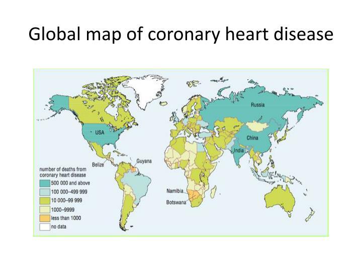Global map of coronary heart disease