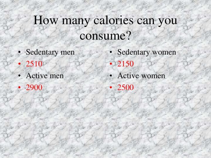 Sedentary men