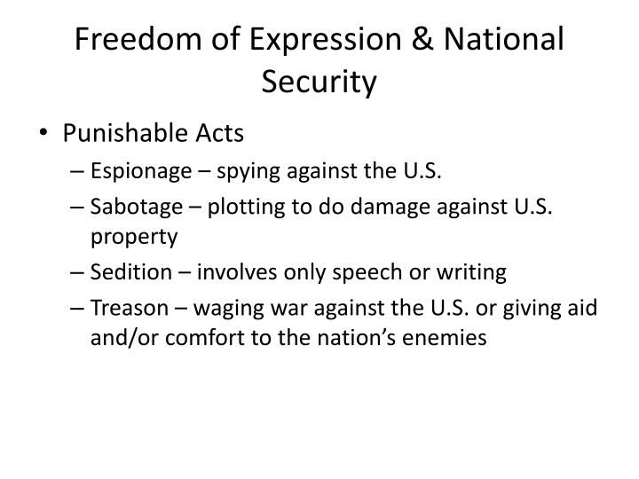 Freedom of Expression & National Security
