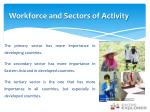 workforce and sectors of activity
