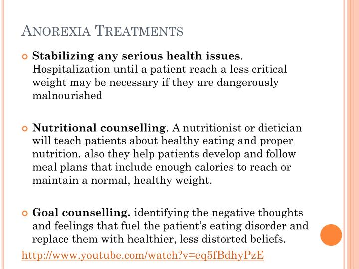 Anorexia Treatments