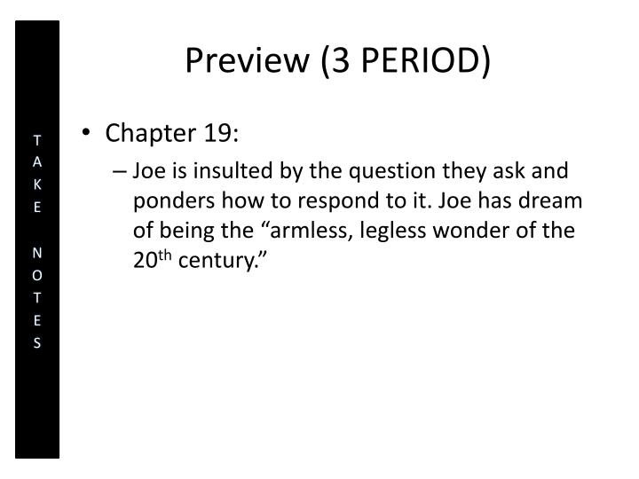 Preview (3 PERIOD)