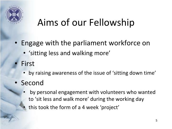 Aims of our Fellowship
