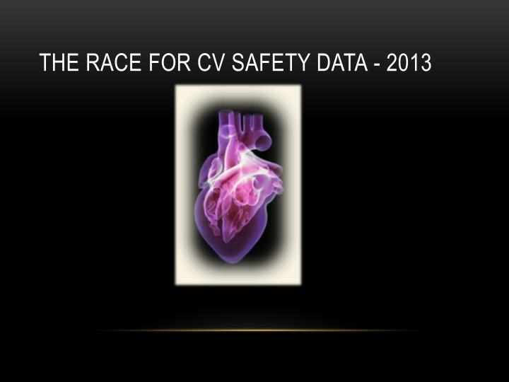 The race for CV safety data - 2013