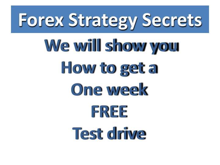 Forex Strategy Secrets