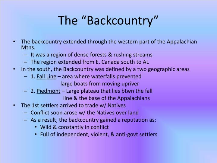 """The """"Backcountry"""""""