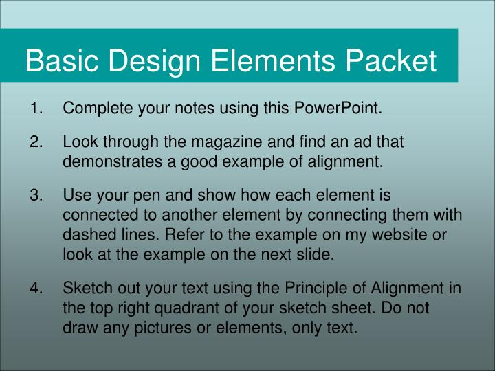 Basic Design Elements Packet