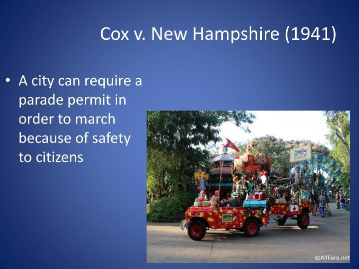 Cox v. New Hampshire (1941)