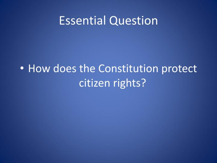 Essential Question