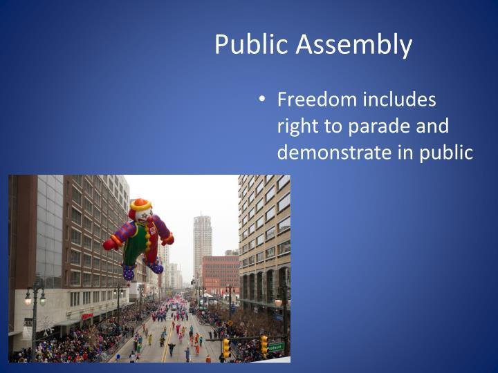 Public Assembly