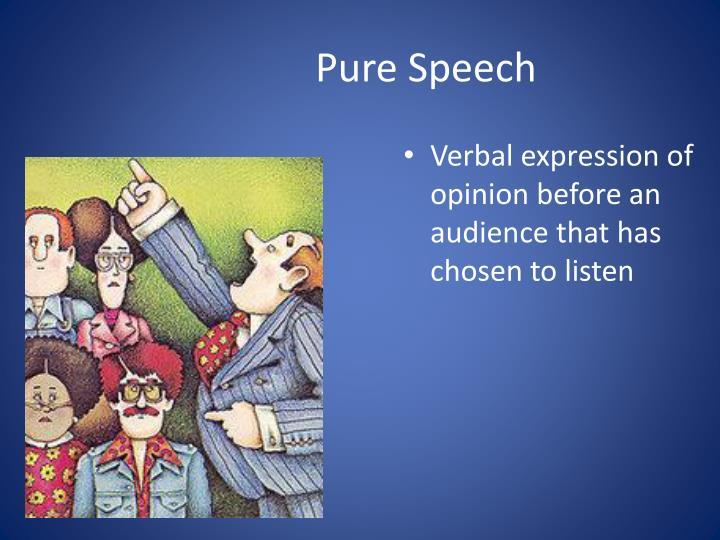 Pure Speech