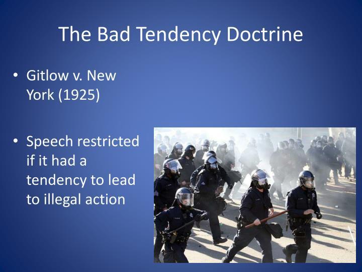 The Bad Tendency Doctrine