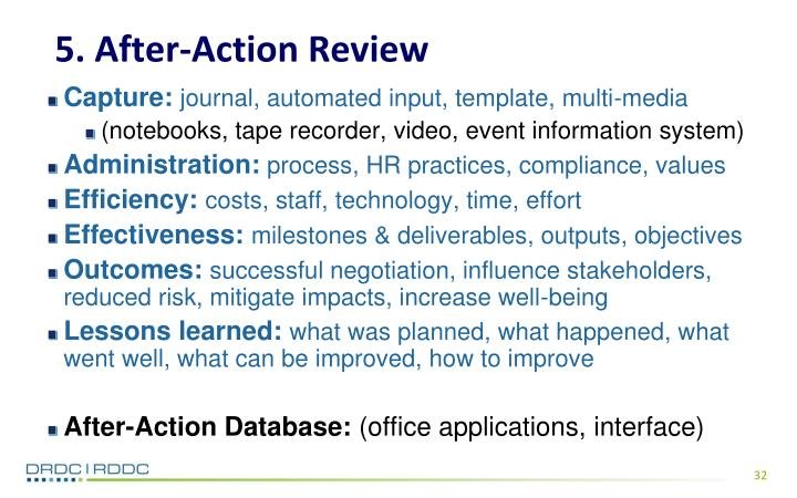 5. After-Action Review