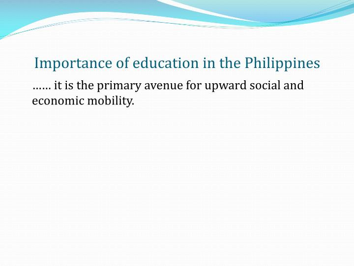 Importance of education in the Philippines