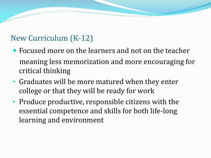 New Curriculum (K-12)