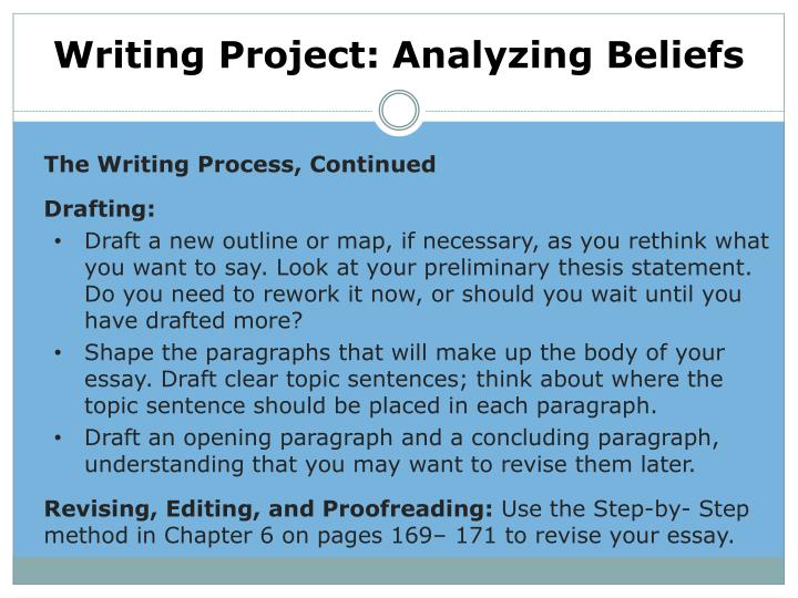 Writing Project: Analyzing Beliefs