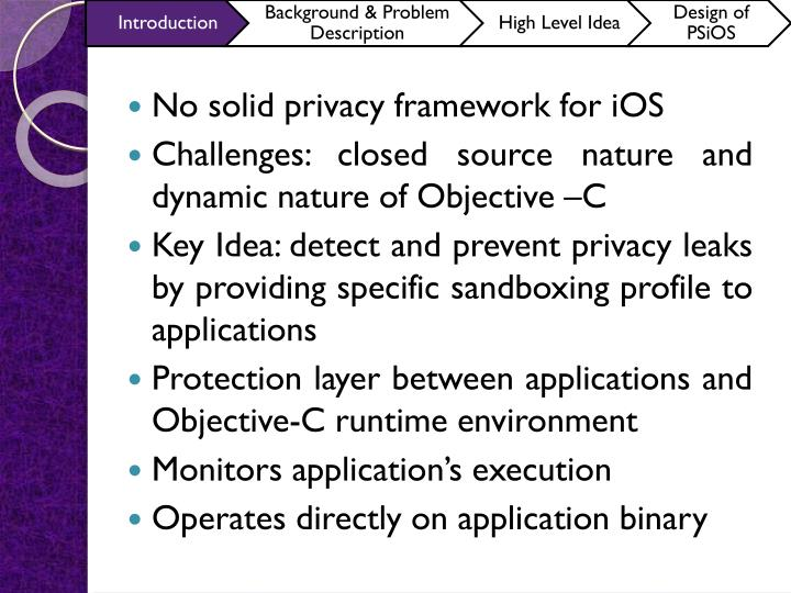 No solid privacy framework for iOS