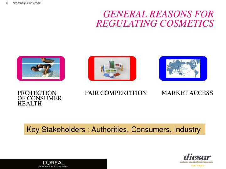 General Reasons For Regulating Cosmetics