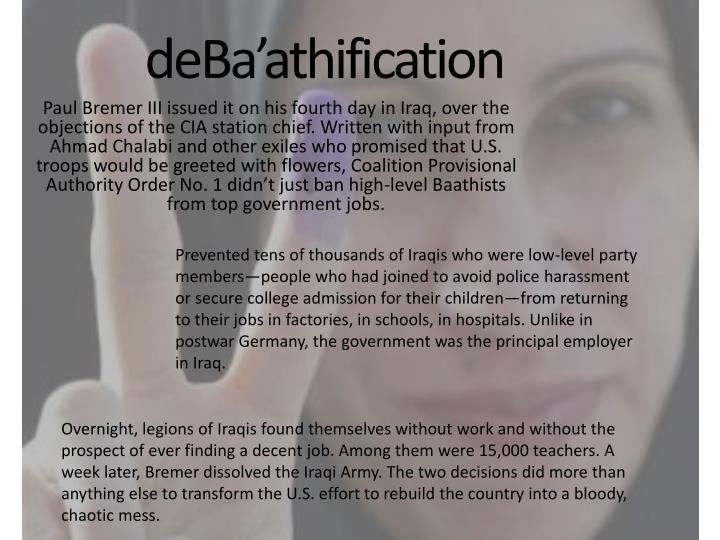deBa'athification