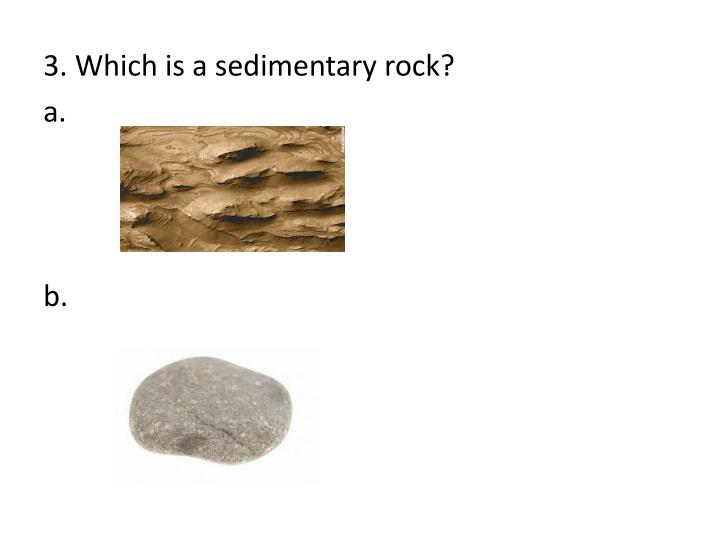 3. Which is a sedimentary rock?