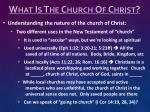 what is the church of christ1
