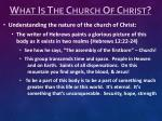 what is the church of christ4