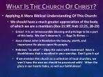 what is the church of christ7