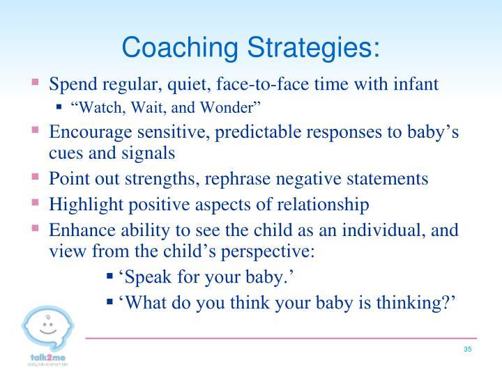 Coaching Strategies: