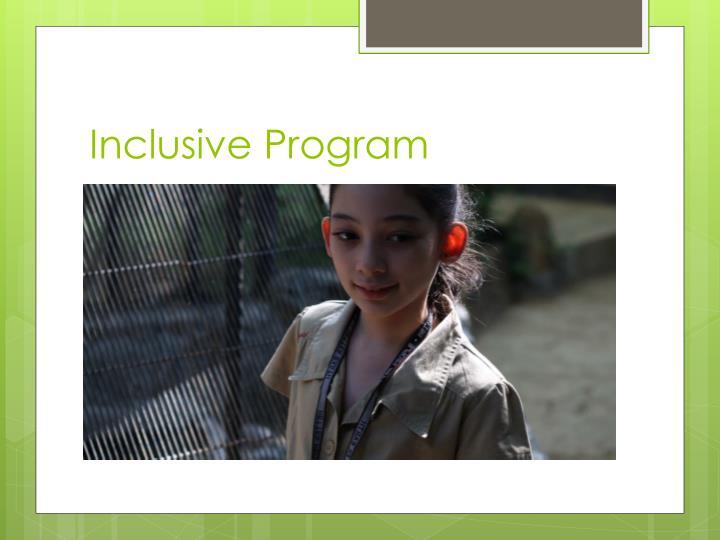 Inclusive Program