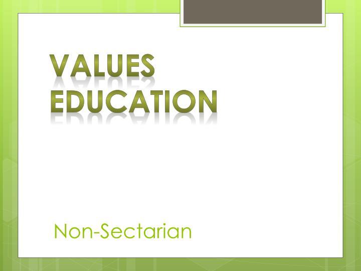 Non-Sectarian